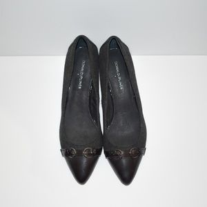 Donald Pliner Charcoal Black Kitten Pump Heel 9M